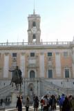 Campidoglio's Palazzo Nuovo with clocktower.  For view head to right.