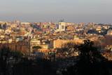Gianicolo Hill - at least 9 domes plus Vittoriano