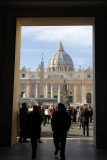 Had free time at St. Peter's Square.  I explored quickly.