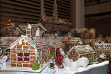 Gingerbread decorations in living room