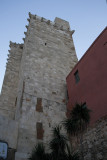 Took a local bus to the top of El Castello, old walled part of Cagliari.  Here's 1 of 2 defensive towers.
