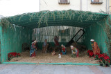 A very large nativity scene was outside the large duomo!