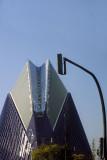 Agora from the coach (part of Arts & Sciences complex by Calatrava)