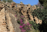 I took a bus up north to Antoni Gaudi's Parc Guell.  You walk down to the Monumental Zone passing scenery like this.