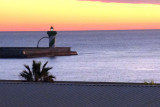 Awoke in Barcelona with a lighthouse visible across the way.