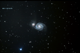 M51 Whirlpool Galaxy Made with my new ZWO ASI 183mc camera