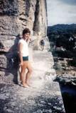 Sur le Pont du Gard dans les années cinquante
