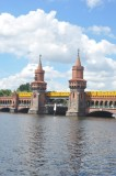 Oberbaumbrücke and Underground Train