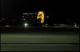Night view of Che at Plaza de la Revolution seen from the bus