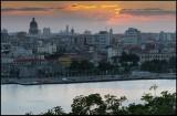 Havana old town seen from El Cristo de La Habana