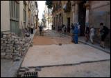 Repairing the streets of old Havana