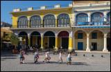 Children at Havana old square