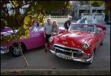 Ronny and Marianne preparing for Havana old car cruising