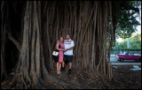 Susanne and myself in a giant ficus tree