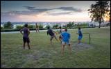 Soccer football in Paque del Cristo de la Habana
