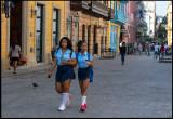 Girls in Havana with school uniform