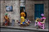 Colorful women at Plaza de la Catedral