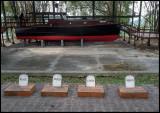 Hemingways boat and four dog headstones