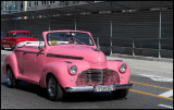 Pink is a popular car color....