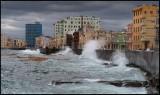 Havana Malceon with big waves