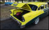Yellow Chevrolet  - Car display near Plaza de la Revolution