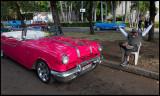 Pontiac - Car display near Plaza de la Revolution