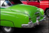 Green Chevy - Car display near Plaza de la Revolution