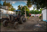 Tractor in Iznaga - unusual to own as a farmer