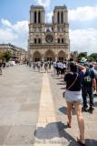 Line outside Notre-Dame