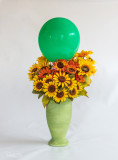 Balloon and flowers