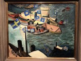 Flying the Flag in the Harbor (1914) - Isaac Grünewald - Stadsmuseet i Stockholm - 9898