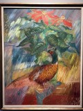 Pheasant Cockerel and Christmas Star (1936) - Sigrid Hjertén - 9984