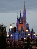 Castle closeup at dusk