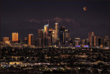 Los Angeles Winter Blood Moonrise Lunar Eclipse