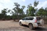 Our dusty rental car