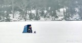 Ice Fisherman On Lower Rideau Lake P1050825
