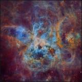 Tarantula nebula in Hubble color mapping
