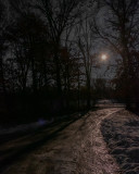 Moonrise Over My Icy Driveway