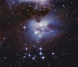 The Running Man Nebula (M 43, NGC 1973, 1975, 1977)