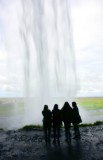 Seljalandsfoss waterfalls,Tourists behind waterfalls, Iceland 134