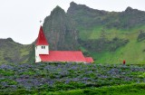 Vikurkikja and village of Vik, Iceland 399