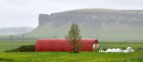 Red Quonset Barn in Iceland 439a