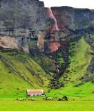 Rauoilaekur Waterfalls off Murnabrun, Iceland 487