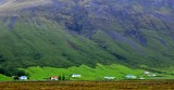 Houses along Svinafellsfjall Mountain, Svinafell, Iceland 562