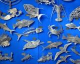 Metallic art at Robbie's, Flloriday Keys, Florida 114