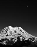 Mount Rainier, Glacier Island, Puyallup Cleaver, Saint Andrews Rock, LIberty Cap, Point Sucess, Tahoma Glacier, the Moon