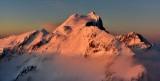 Three Fingers and Whitehorse Mountain in golden light, Cascade Mountains, Washington 393