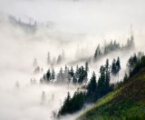 Morning fog between Haystack Mtn and Mt Persis, Gold Bar, Washington 138