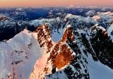 Sunset over Chimney Rock, Overcoat Glacier, Overcoat Peak, Mt Baker, Glacier Peak, Cascade Mountains, Washington 578
