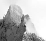 Garfield Mountain in heavy snow, Cascade Mountains, Washington 553